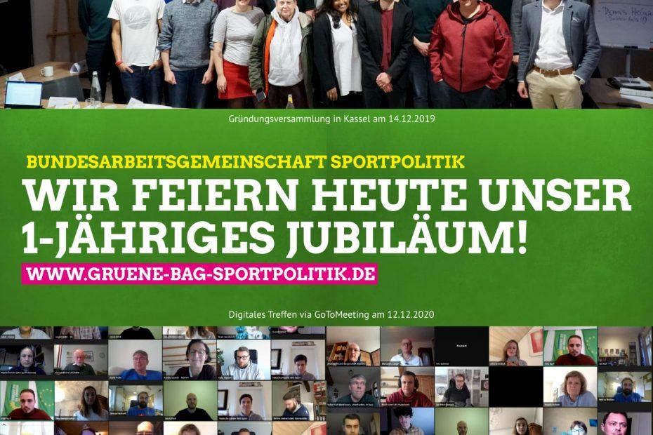 Bild zum 1-jährigen Jubiläum der BAG Sportpolitik